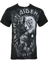 Iron Maiden Number of the Beast Grey Tone Mens Black T-Shirt - NEW & OFFICIAL