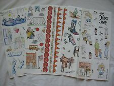 Scrappin Dreams Stickers Slumber Party Barber Shop 1st Haircut School Stop Signs