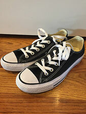 Converse Low Top *All Star* Chucks Shoes Black Size Mens 4 Womens 6 WORN TWICE!!