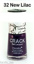 Hot New Nabi Crack Nail Art Polish Crackle/Shatter Effect 32- New Lilac