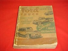 1948 1949 1950 1951 1952 1953 1954  FORD NOS TRUCK PARTS CATALOG BOOK 52 53 54