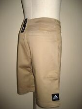 Adidas Mens Basketball NBA Khaki Flat Front Shorts S M L XL Free Ship NWT