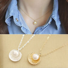 Shell Bead Clavicle Necklace Metal Chain Fashion Jewelry Pendant Necklaces BDAU