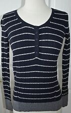 ~Sonoma~ Petite Navy Striped Ribbed Knit Sweater $36 Size PXS, PXL ~NWT