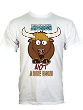 New A Higgs Boson Not A Huge Bison Men's White T-Shirt