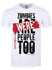 New Public Service Message No.4 Zombies Were People Too White Men's T-Shirt
