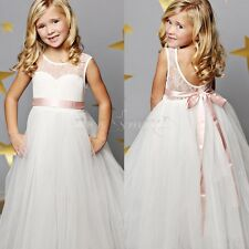 Flower Girl Dress Princess Vintage Dress Party Pageant Wedding SpecialLace Dress