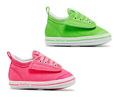 Boys or Girls Shoes My First Volley Fluro Pink or Green Adhesive Infant US 2-7
