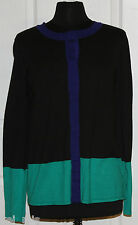 ~Narciso Rodriguez~ Black Snap Button Front Cardigan Sweater~Size XL~NWT