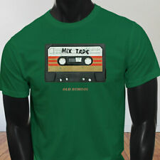 CASSATE MIX TAPE OLD SCHOOL VINTAGE MUSIC BOOMBOX Mens Green T-Shirt