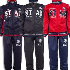 24brands Boys Tracksuit Jump Suit Trackies Sports Clothing Jogging Pants