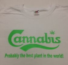 CANNABIS  BEST PLANT IN THE WORLD WEED T-SHIRT, S, M, L, XL, XXL BONG MEN/LADY