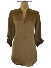 Ex-*andS Ladies Olive/Brown Loose Fit Tunic/Over Top    6 8 10 12 14 16 18 20 22