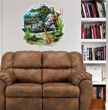 Jazz Gator Swamp Blues Sax Music WALL GRAPHIC DECAL MAN CAVE BAR ROOM DECOR