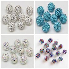 Wholesale Crystal Rhinestone Pave Clay Round Disco Ball Loose Beads 8/10/12mm