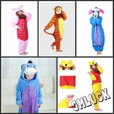 Kid Adult Costume Kigurumi Pajamas Cosplay Disney Winnie The Poot Onesie Pyjamas