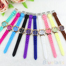 Unisex Beautiful Hot Geneva Silicone Band Jelly Gel Quartz Analog Wrist Watch