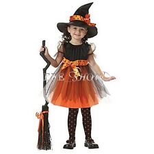 Children Girls Halloween Princess Cosplay Party Fancy Witch Costume Suit Dress