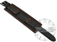 Band with Pin buckle Packer Watch Strap Leather black 24mm22mm20mm18mm