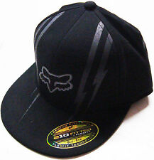 FOX RACING YOUTH DOMINION FLAT BRIM FLEXFIT HAT CAP BRAND NEW