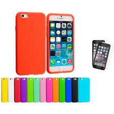 For Apple iPhone 6 (4.7) Silicone Case Cover+2X Anti Glare Screen Protector