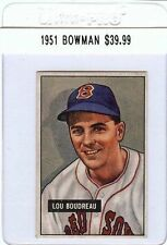 Lou Boudreau 1951 51 Bowman #62 Vintage Baseball Card Red Sox