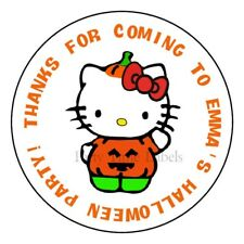 Hello Kitty Halloween Party Favor Personalized Trick or Treat Labels Stickers