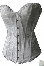 Corset Basque Wedding Satin corset white Registry Ruffle Bro Laundry bags