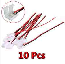 10Pcs PCB Cable Useful 2 Pin LED Strip Connector 3528/5050 Single Color Adapter