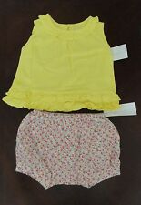 NWT Ralph Lauren Infant Sleeveless Ruffled Top & Floral Bloomers Set 3m 6m 9m
