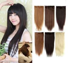 Lady's Synthetic Long Straight Five Clip Hair Extension 1pc Hairpiece 22''