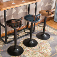 INDUSTRIAL VINTAGE RUSTIC RETRO SWIVEL COUNTER BAR STOOL CAFE CHAIR WITH BACK
