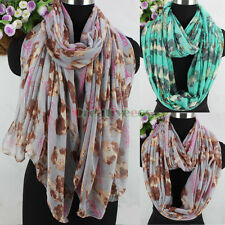 Fashion Women Chicks Animal Print Viscose Long/Infinity Scarf Ladies Scarves New