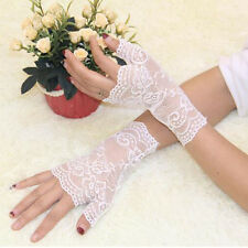 1 Pair Party Sexy Lace Women Gloves Half Finger Wrist Driving Gloves