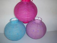 Battery Operated Chinese Paper Lantern - Pink - Blue OR Lilac