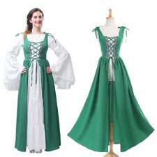 Renaissance Medieval Irish Costume Over Dress Fitted Bodice Halloween Dress