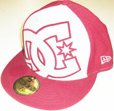 NEW ERA DC SHOES COVERAGE MAROON/GRAY FLAT BRIM FITTED HAT CAP BRAND NEW
