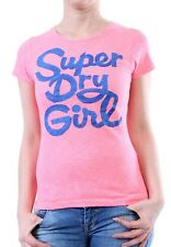 Superdry T-Shirt Women SUPERDRY GIRL Candy Pink Marl