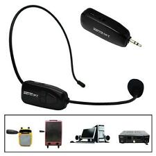 Pro Radio FM Wireless Headset Microphone Handsfree Megaphone Mic for Speaker lot