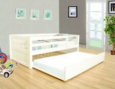 NEW BAYSIDE CAPPUCCINO or WHITE FINISH WOOD TWIN SIZE DAY BED w/ TRUNDLE