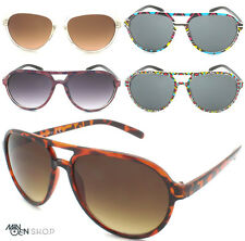 Plastic Aviator Style Sunglasses Classic Frame Retro Patern Men Women's UV400