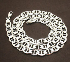 9mm Mens Solid Mariner Anchor Gucci Link Chain Necklace Real Sterling Silver