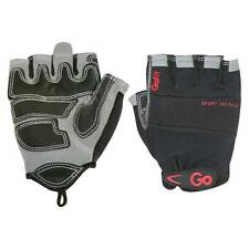 GoFit ProTrainer Sport-Tac Grip Weight Lifting Gloves - Black/Red