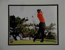 Tiger Woods UnSigned 8x10 Custom Matted Photo Big Swing Red Shirt UDA