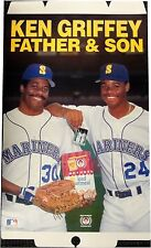 """Ken Griffey Father And Son Jr Original Mothers Cookies Advertisement 18""""x31"""" New"""