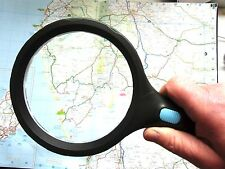 Large 130mm Magnifier illuminated 10 LED reading1.8X 5X magnifying glass
