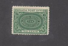 CANADA # E1 FVF-MH 10cts DEEP GREE SPECIAL DELIVERY CAT VAL $150 FREE SHIPPING