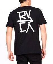 RVCA Down With Crew Neck Black Tee - T Shirt / Tee - Size 2XL. NWT, RRP $49.99.