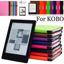 Magnetic Smart Sleep Leather Cover Case For KOBO Arua One + Touch Pen + HD Film