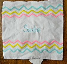Pottery Barn Kids Pillow Sham Personalized Monogrammed - Sadie